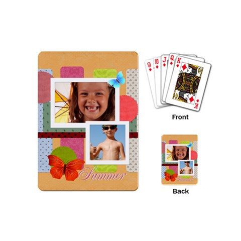 Summer Time By Joely   Playing Cards (mini)   Mikhgj7zdzwo   Www Artscow Com Back