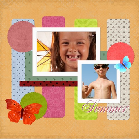 Summer By Joely   Scrapbook Page 8  X 8    K6n93c9106m8   Www Artscow Com 8 x8 Scrapbook Page - 1