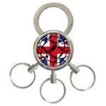 United Kingdom 3-Ring Key Chain