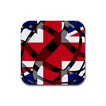 United Kingdom Rubber Square Coaster (4 pack)