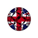 United Kingdom Rubber Round Coaster (4 pack)