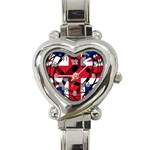 United Kingdom Heart Italian Charm Watch