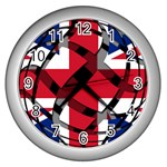 United Kingdom Wall Clock (Silver)