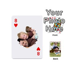 Happy Fathers Day By Joely   Playing Cards 54 (mini)   N6aaw56exh0x   Www Artscow Com Front - Heart8