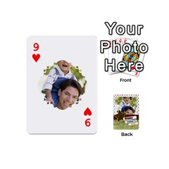 Happy Fathers Day By Joely   Playing Cards 54 (mini)   N6aaw56exh0x   Www Artscow Com Front - Heart9