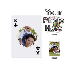 King Happy Fathers Day By Joely   Playing Cards 54 (mini)   N6aaw56exh0x   Www Artscow Com Front - ClubK