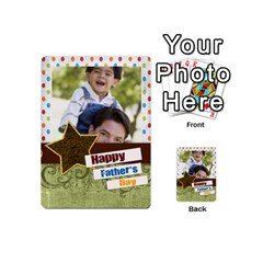 Happy Fathers Day By Joely   Playing Cards 54 (mini)   N6aaw56exh0x   Www Artscow Com Back