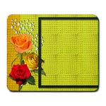 rose pad - Large Mousepad