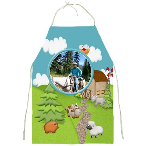 Little Heaven Full Print Apron By Snackpackgu   Full Print Apron   8b1sfkogqcw5   Www Artscow Com Front