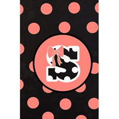 Monogram Journal   Pink & Black Polka Dot And Bows By Lmrt   5 5  X 8 5  Notebook   0mhpgjp6hvg5   Www Artscow Com Front Cover