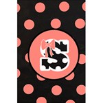 Monogram Journal - Pink & Black Polka Dot and Bows - 5.5  x 8.5  Notebook