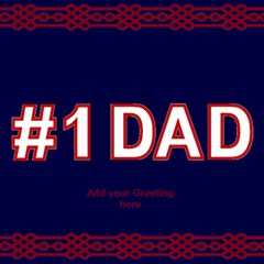 No 1 Dad 3d Card By Deborah   #1 Dad 3d Greeting Card (8x4)   W4b7uzutg3be   Www Artscow Com Inside