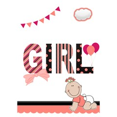 Baby Girl   3d Card By Lmrt   Girl 3d Greeting Card (7x5)   34u5o9w6vvgm   Www Artscow Com Inside