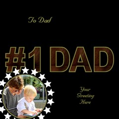 Love You Dad 3d Card By Deborah   #1 Dad 3d Greeting Card (8x4)   Iaasvt92t7fd   Www Artscow Com Inside