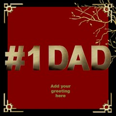 My No 1 Dad 3d Card By Deborah   #1 Dad 3d Greeting Card (8x4)   8ydpkcc9uaxt   Www Artscow Com Inside