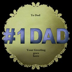 No 1 Father 3d Card By Deborah   #1 Dad 3d Greeting Card (8x4)   G415usquj46v   Www Artscow Com Inside