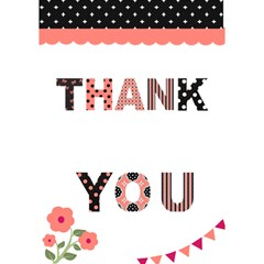 Thank You 3d Card   Pink & Black By Lmrt   Thank You 3d Greeting Card (7x5)   3ga1srzzj82u   Www Artscow Com Inside