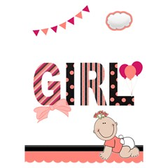 Baby Girl   3d Card   Pink Polka Dot By Lmrt   Girl 3d Greeting Card (7x5)   Cjwac8bpds5m   Www Artscow Com Inside