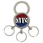 Netherlands 3-Ring Key Chain