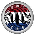 Netherlands Wall Clock (Silver)