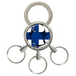 Finland 3-Ring Key Chain