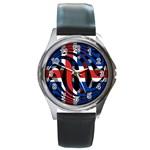 Iceland Round Metal Watch