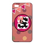 Pink iPhone 4 Case - Apple iPhone 4/4s Seamless Case (Black)