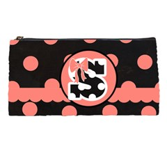 Pink Polka Dot Pencil Case By Lmrt   Pencil Case   V52rgk2vfe3u   Www Artscow Com Front