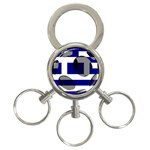 Greece 3-Ring Key Chain