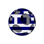 Greece Rubber Round Coaster (4 pack)