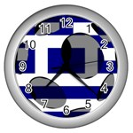 Greece Wall Clock (Silver)