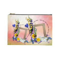 Spring Cosmetic Bag (l) By Elena Petrova   Cosmetic Bag (large)   Uyeoqef6r4vs   Www Artscow Com Front