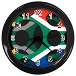 South Africa Wall Clock (Black)