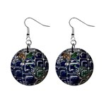 Earth 1  Button Earrings