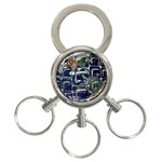 Earth 3-Ring Key Chain