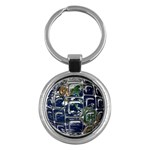 Earth Key Chain (Round)