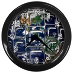Earth Wall Clock (Black)