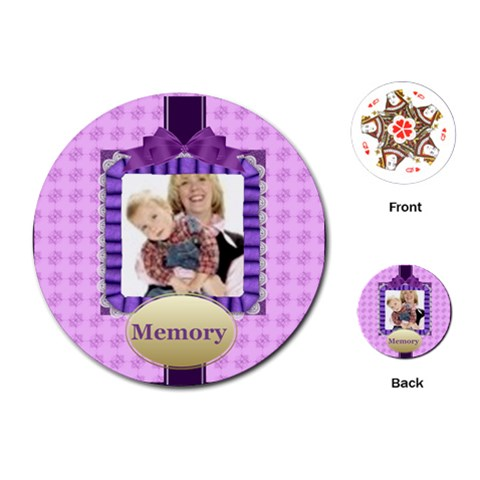 Memoy Of Happy Time By Joely   Playing Cards (round)   Lz1jtr3eglnr   Www Artscow Com Front