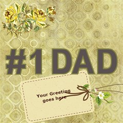 For Dad 3d Card By Deborah   #1 Dad 3d Greeting Card (8x4)   Il1jza7nvpbn   Www Artscow Com Inside