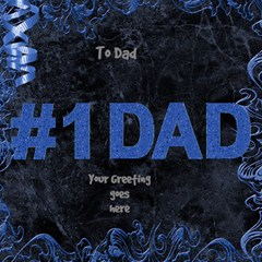 My Dad 3d Card By Deborah   #1 Dad 3d Greeting Card (8x4)   Mpf3maarsyec   Www Artscow Com Inside