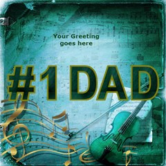 Love My Dad 3d Card By Deborah   #1 Dad 3d Greeting Card (8x4)   Jjs0q9i0t67r   Www Artscow Com Inside