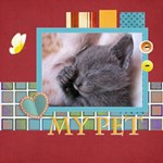 my pet - ScrapBook Page 8  x 8