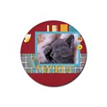 my pets - Rubber Coaster (Round)