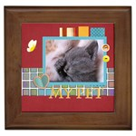 my pets - Framed Tile