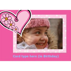Hearts Girl General 3d Card By Deborah   Heart 3d Greeting Card (7x5)   9bxs597be5zo   Www Artscow Com Front