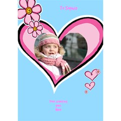 Hearts Girl General 3d Card By Deborah   Heart 3d Greeting Card (7x5)   9bxs597be5zo   Www Artscow Com Inside