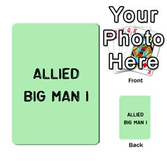 Bag The Hun Card   Allies By Agentbalzac   Multi Purpose Cards (rectangle)   Rqjlm9rjvsra   Www Artscow Com Front 40