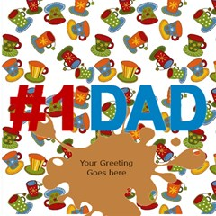 Love You Dad 3d Card By Deborah   #1 Dad 3d Greeting Card (8x4)   Geor6ell1xun   Www Artscow Com Inside