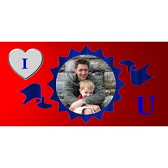 Perfect Dad 3d Card By Deborah   #1 Dad 3d Greeting Card (8x4)   Yi9ukx3zyo9n   Www Artscow Com Front