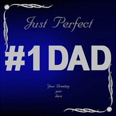 Perfect Dad 3d Card By Deborah   #1 Dad 3d Greeting Card (8x4)   Yi9ukx3zyo9n   Www Artscow Com Inside